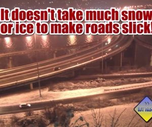 How to correct a slide or skid on icy roads